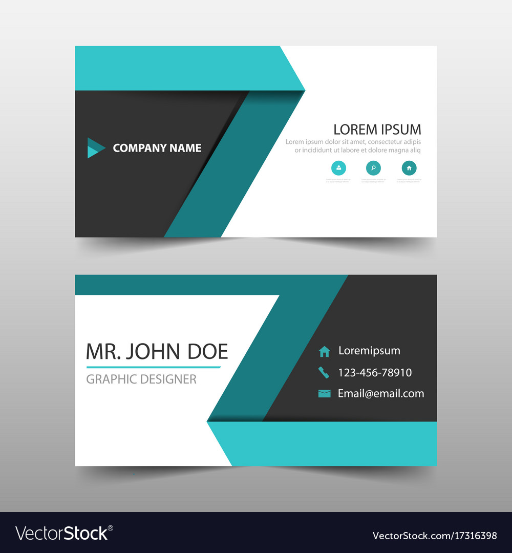 Green label corporate business card name card vector image colourmoves