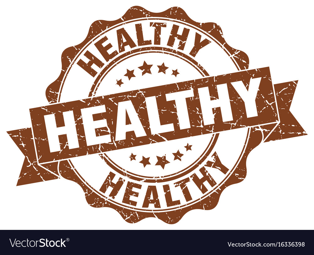 Healthy stamp sign seal