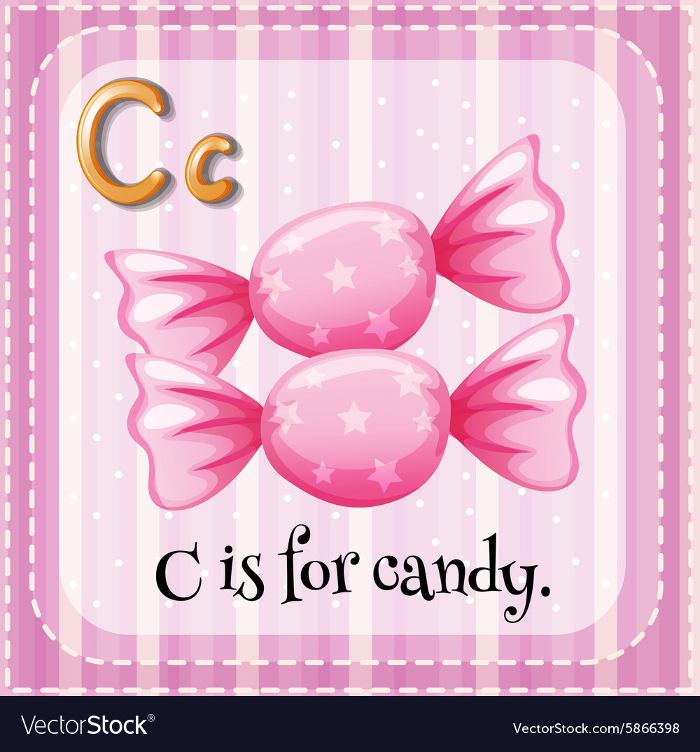 Letter C is for candy Royalty Free Vector Image