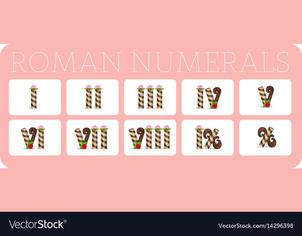 Set Of Roman Numerals 2 Royalty Free Vector Image