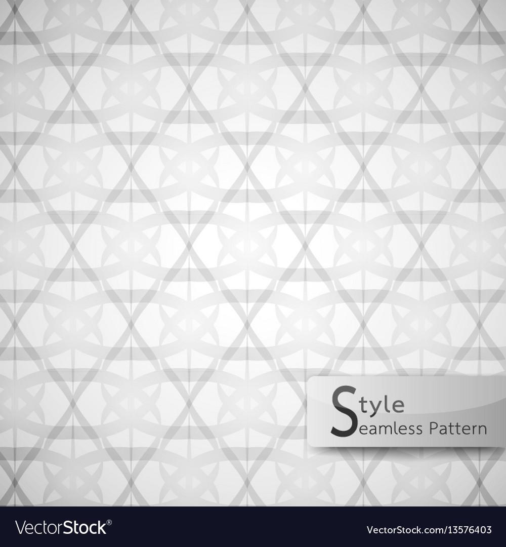 Abstract seamless pattern flower lotus loop vector image