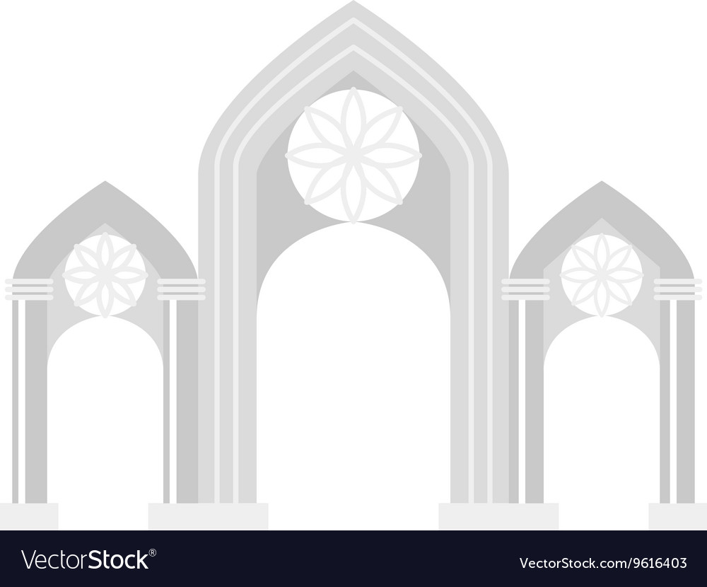 Arch icon isolated