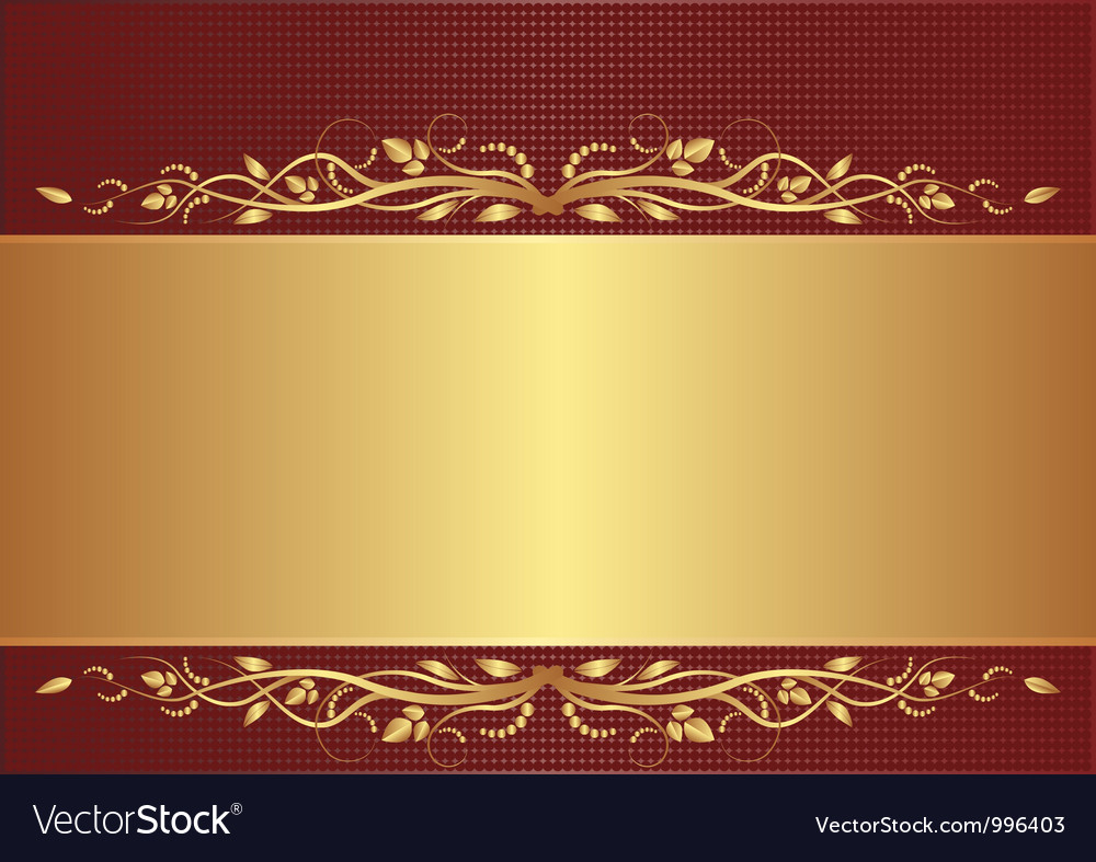 burgundy and gold background royalty free vector image vectorstock