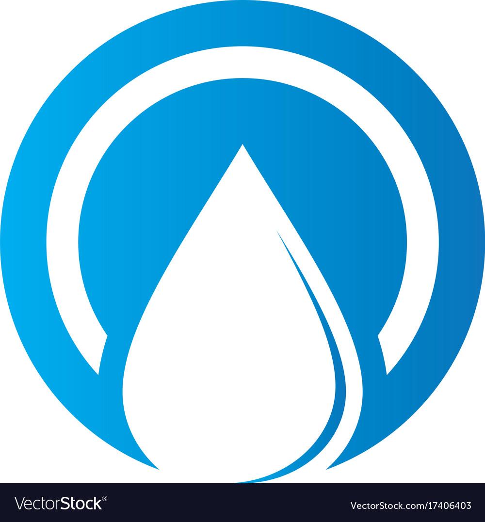 Circle waterdrop nature logo