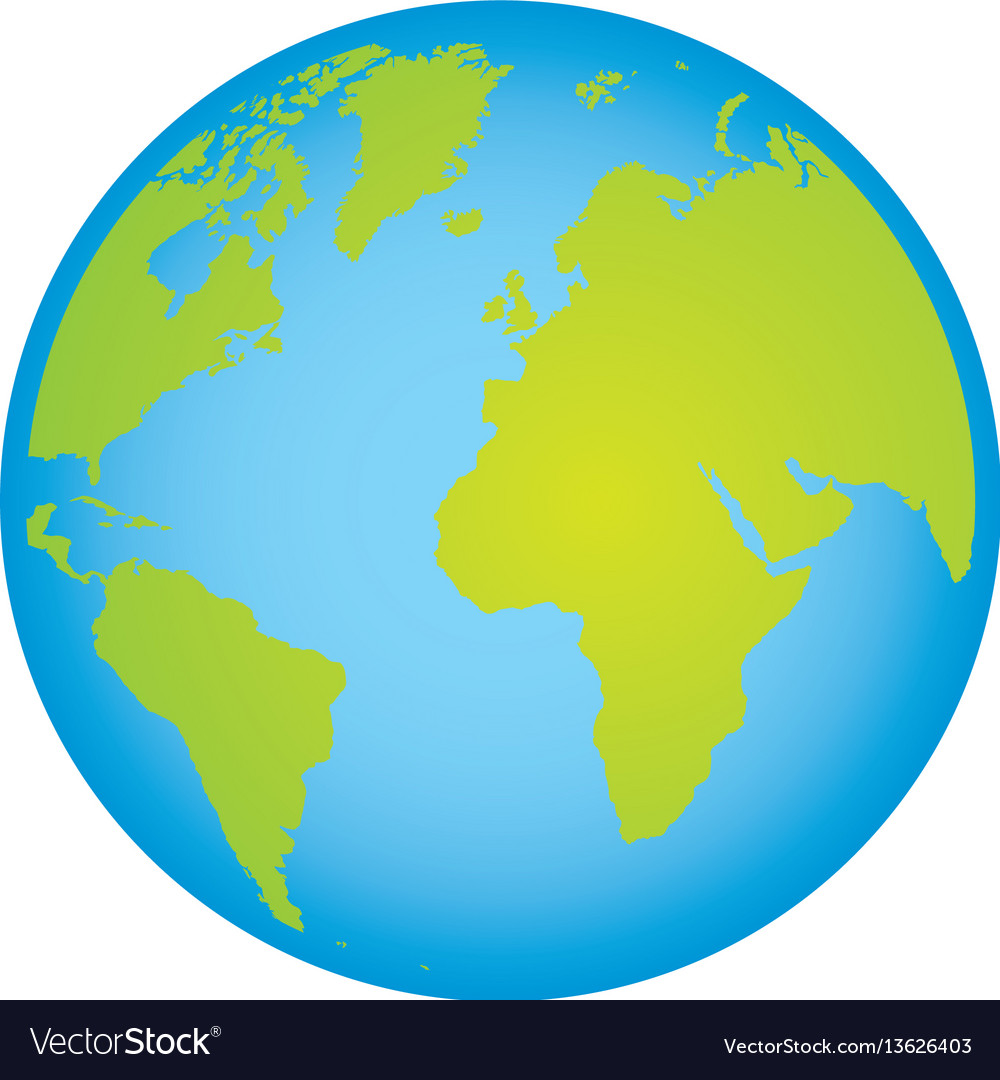 Colorful earth world map with continents in 3d vector image gumiabroncs