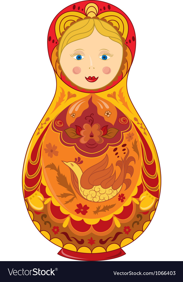 Russian doll vector image