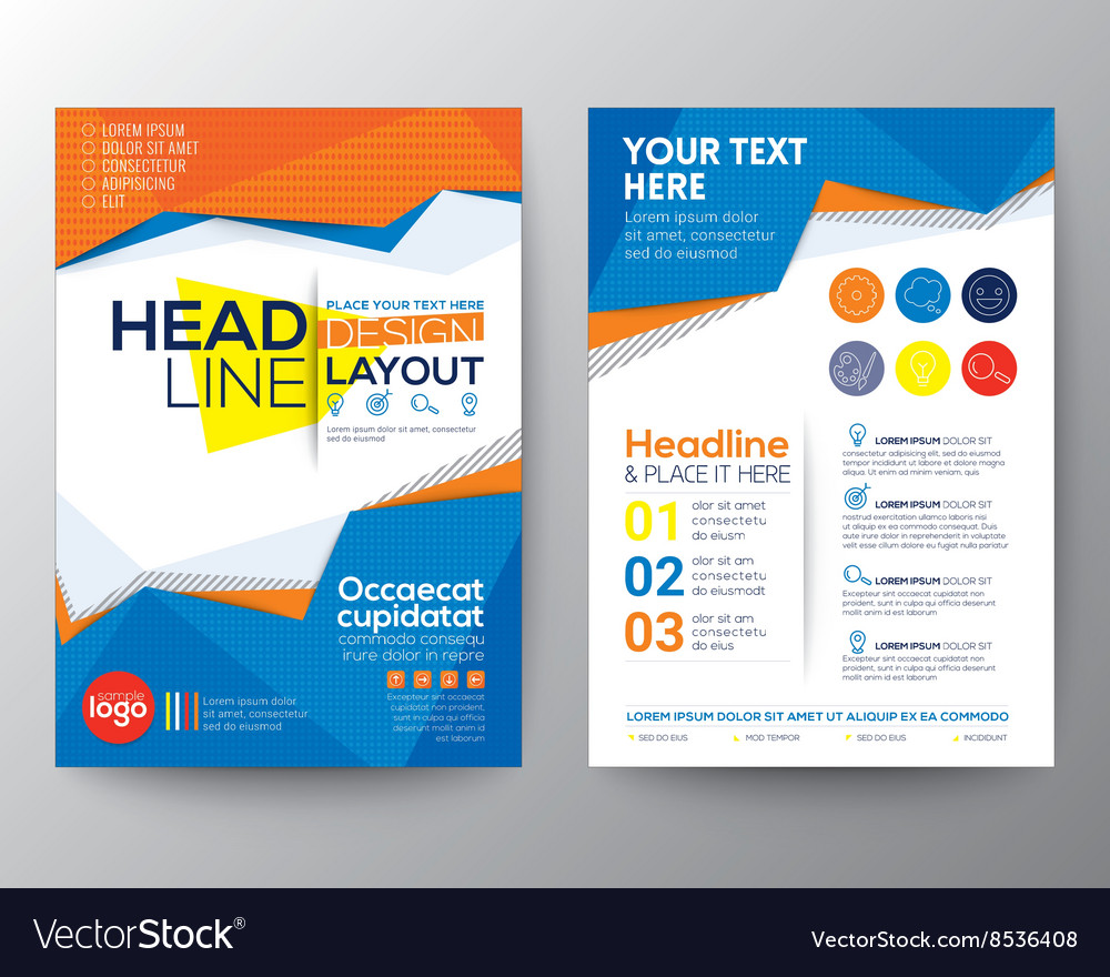 abstract low polygon triangle shape flyer layout vector image