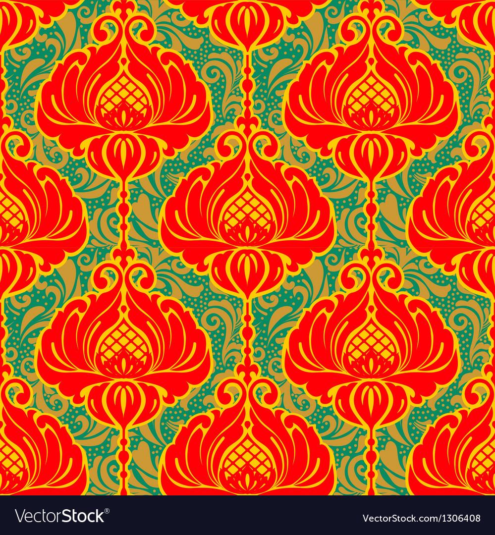 Colorful bright vintage floral ornate background