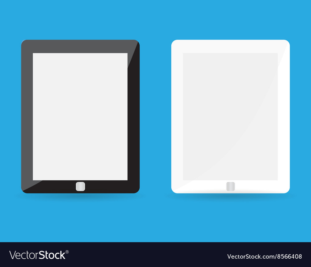 Computer tablet with blank white screen vector image
