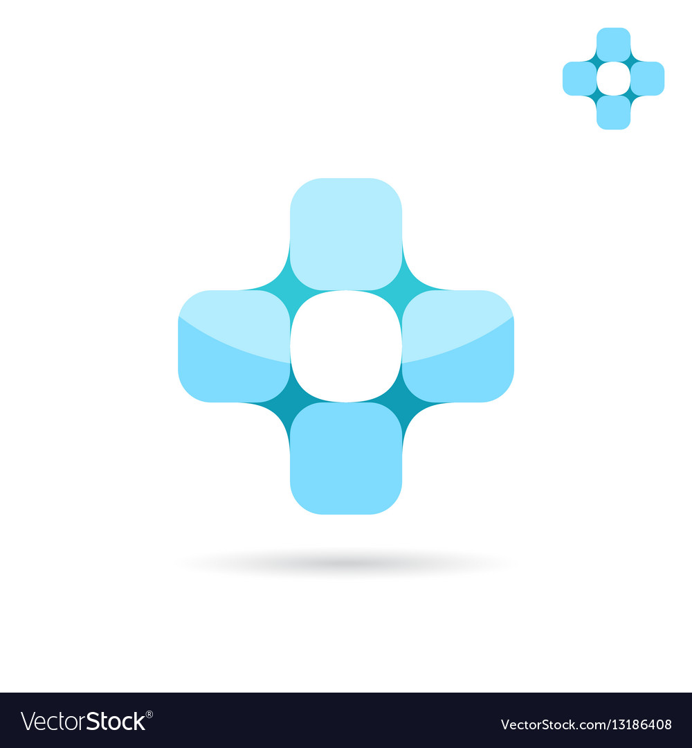 Connected squares forme medical cross shape