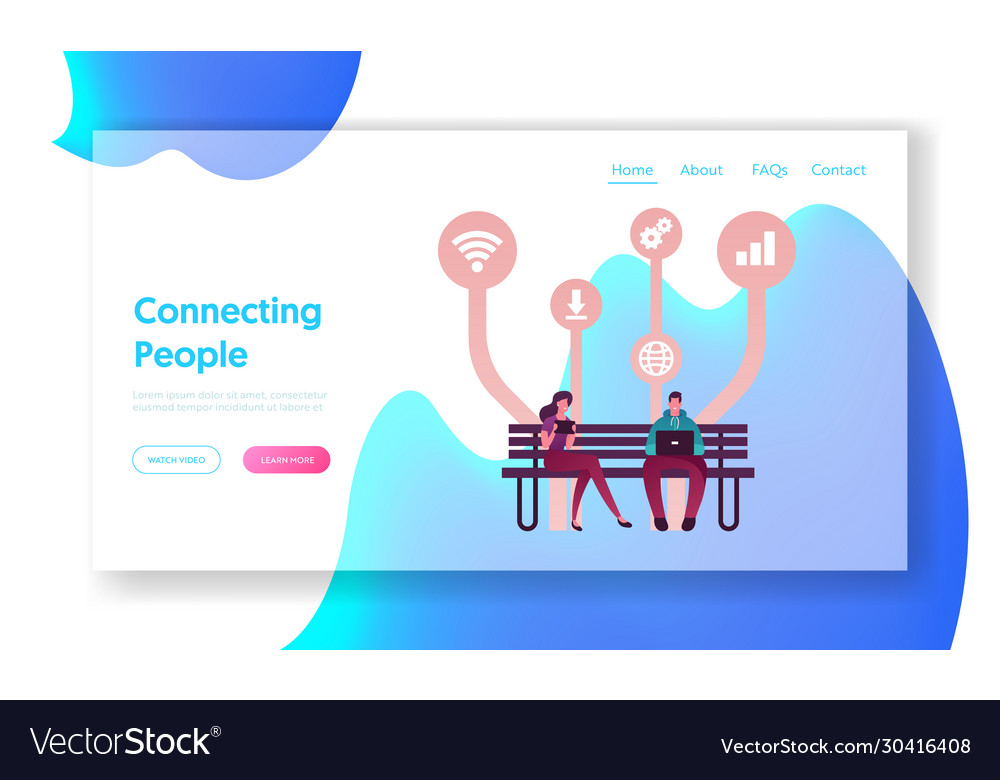 Free apps download landing page template young