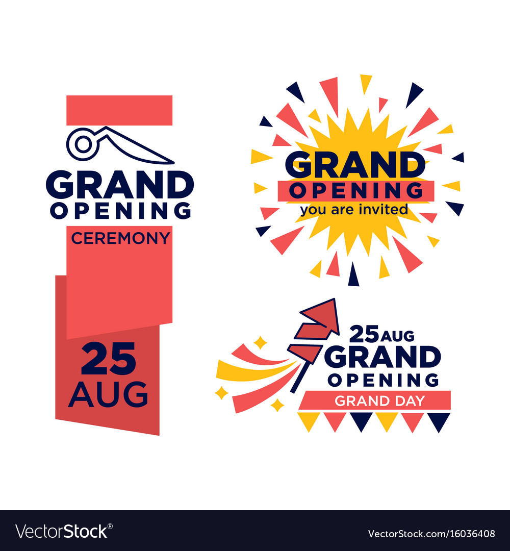 Grand opening ceremony on 25 august emblems set