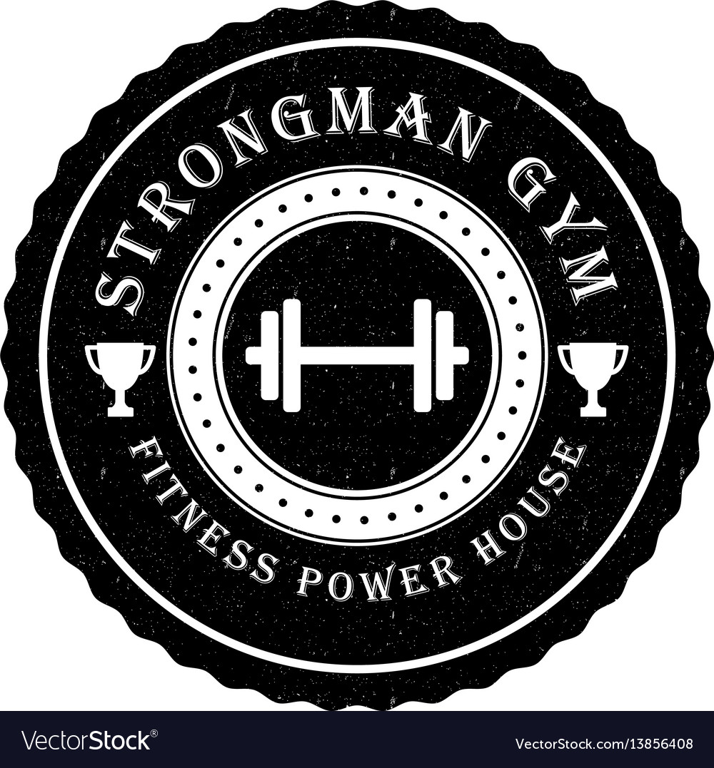 Gym logo or badge in vintage style