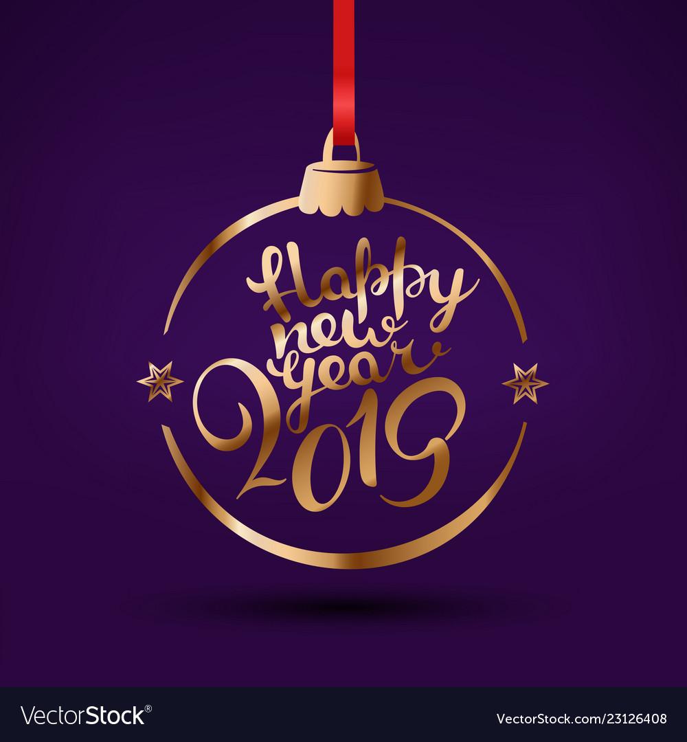 Happy New Year Logo 2019 15
