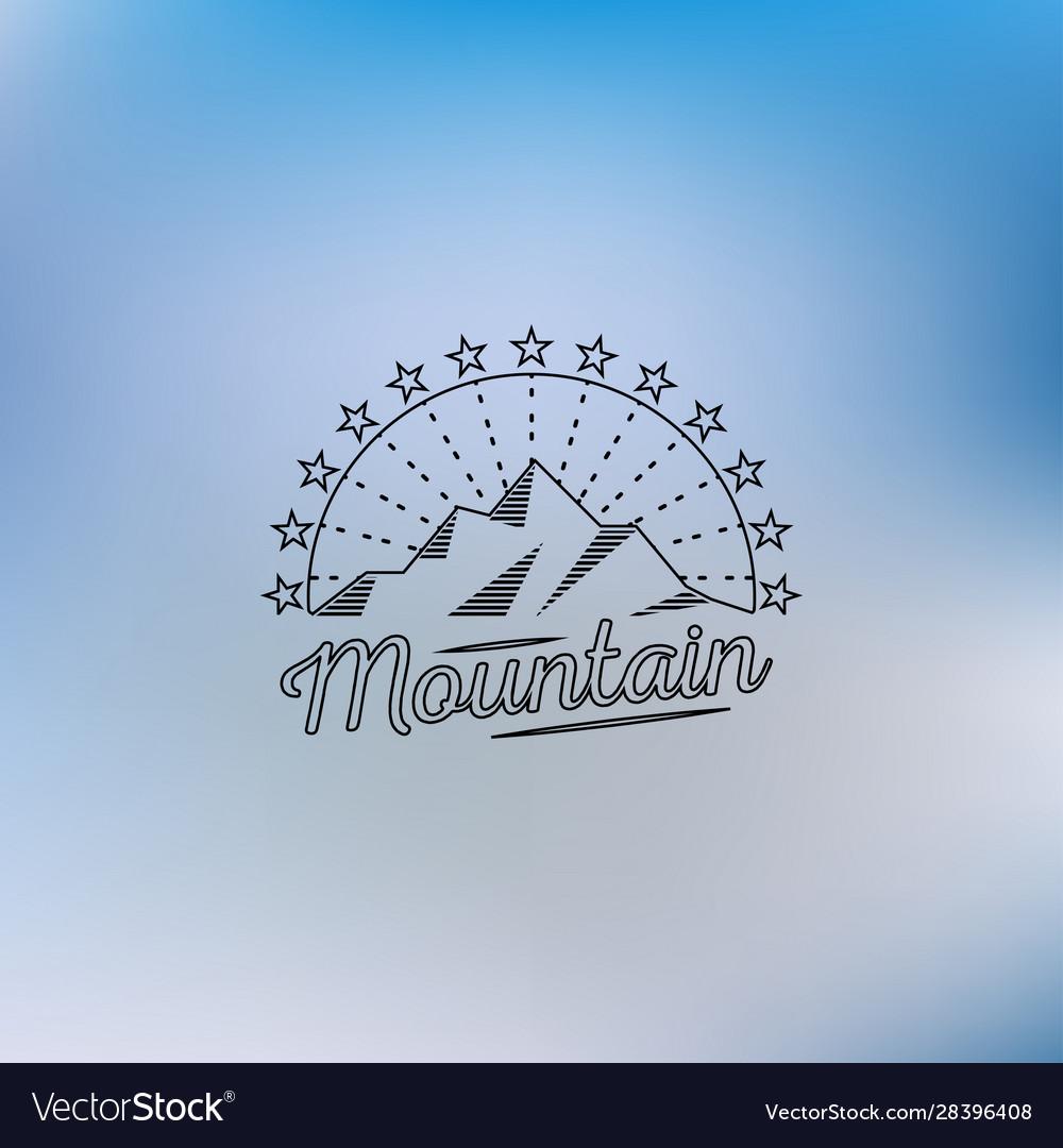 Mountain lineart logo mountain hipster logo