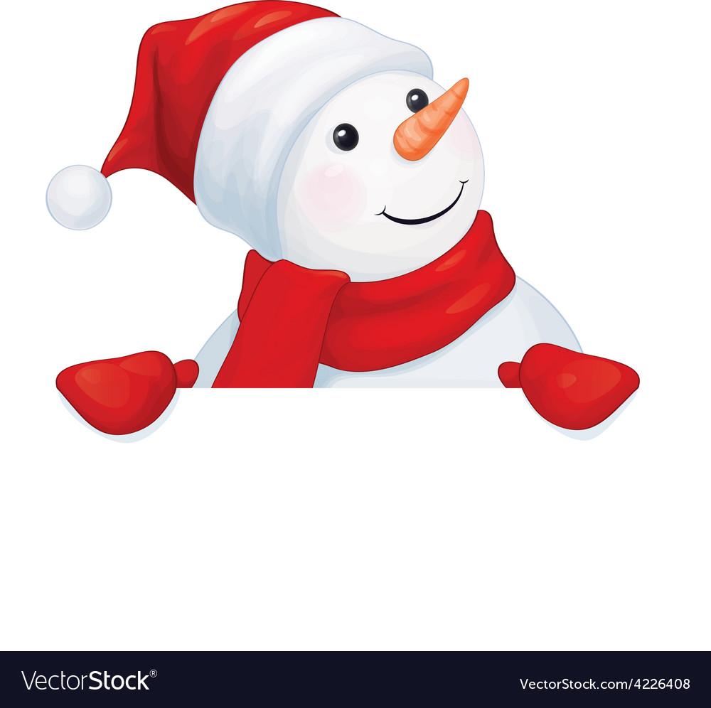 snowman royalty free vector image vectorstock rh vectorstock com snowman vector free snowman vector art