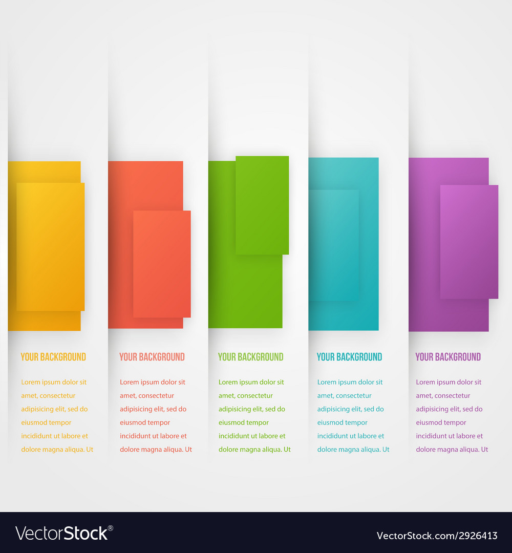 Abstract triangle template banner Color set