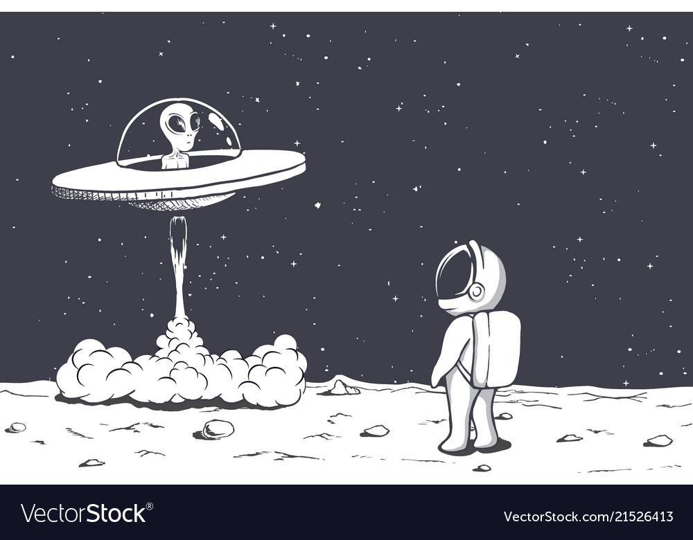 Alien takes off