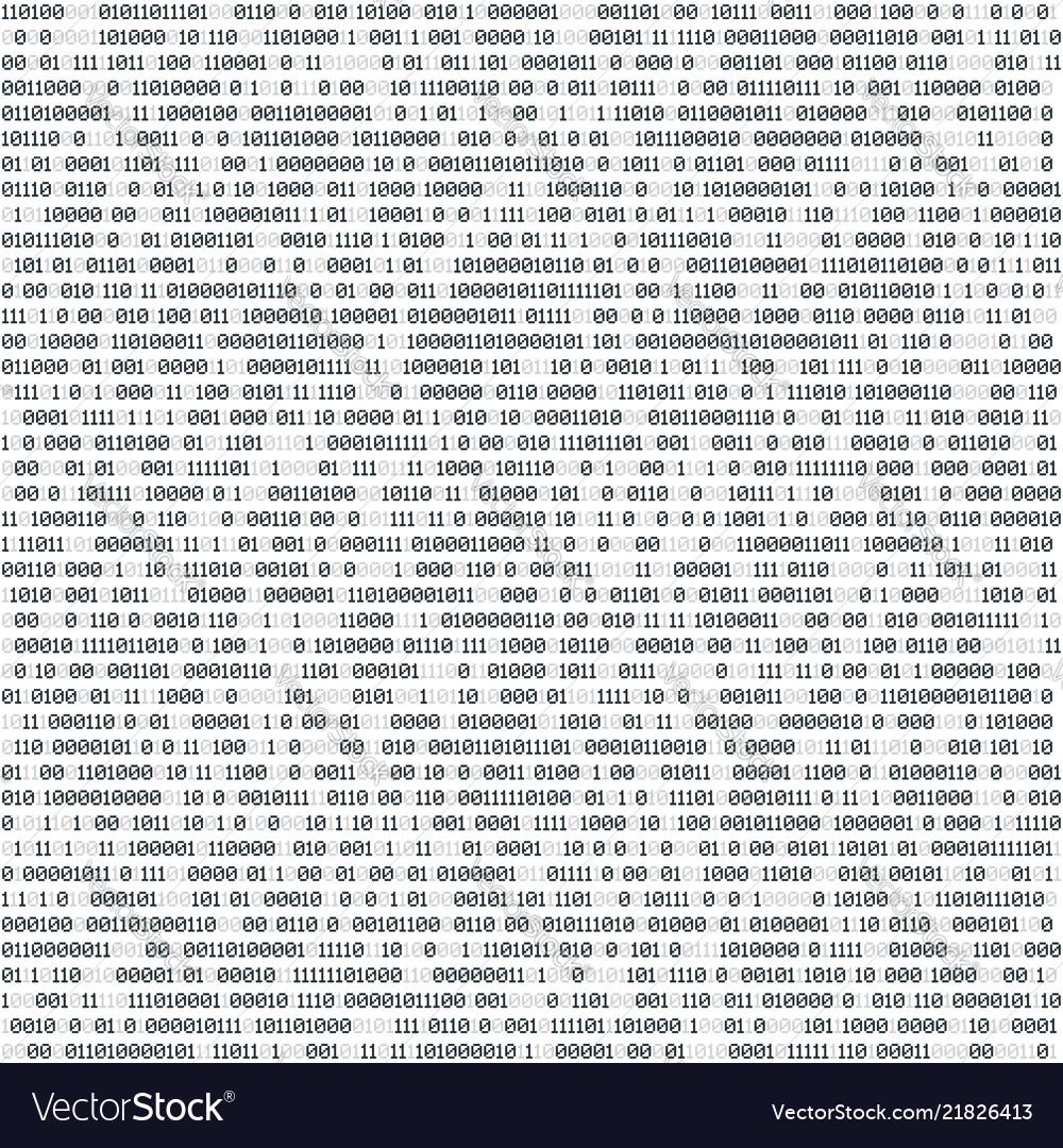 Binary computer code technology horizontal