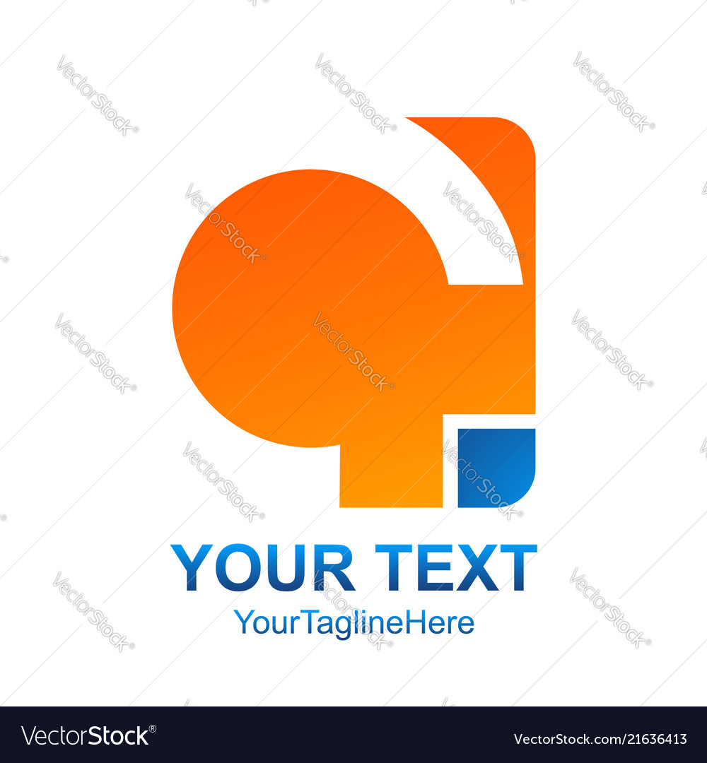Creative abstract round square logo design