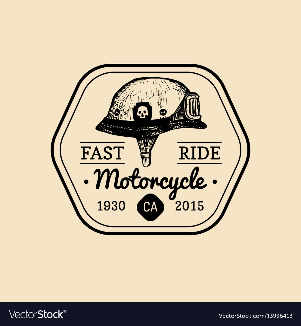 Fast Ride Biker Store Logo Motorcycle Club Sign Vector Image