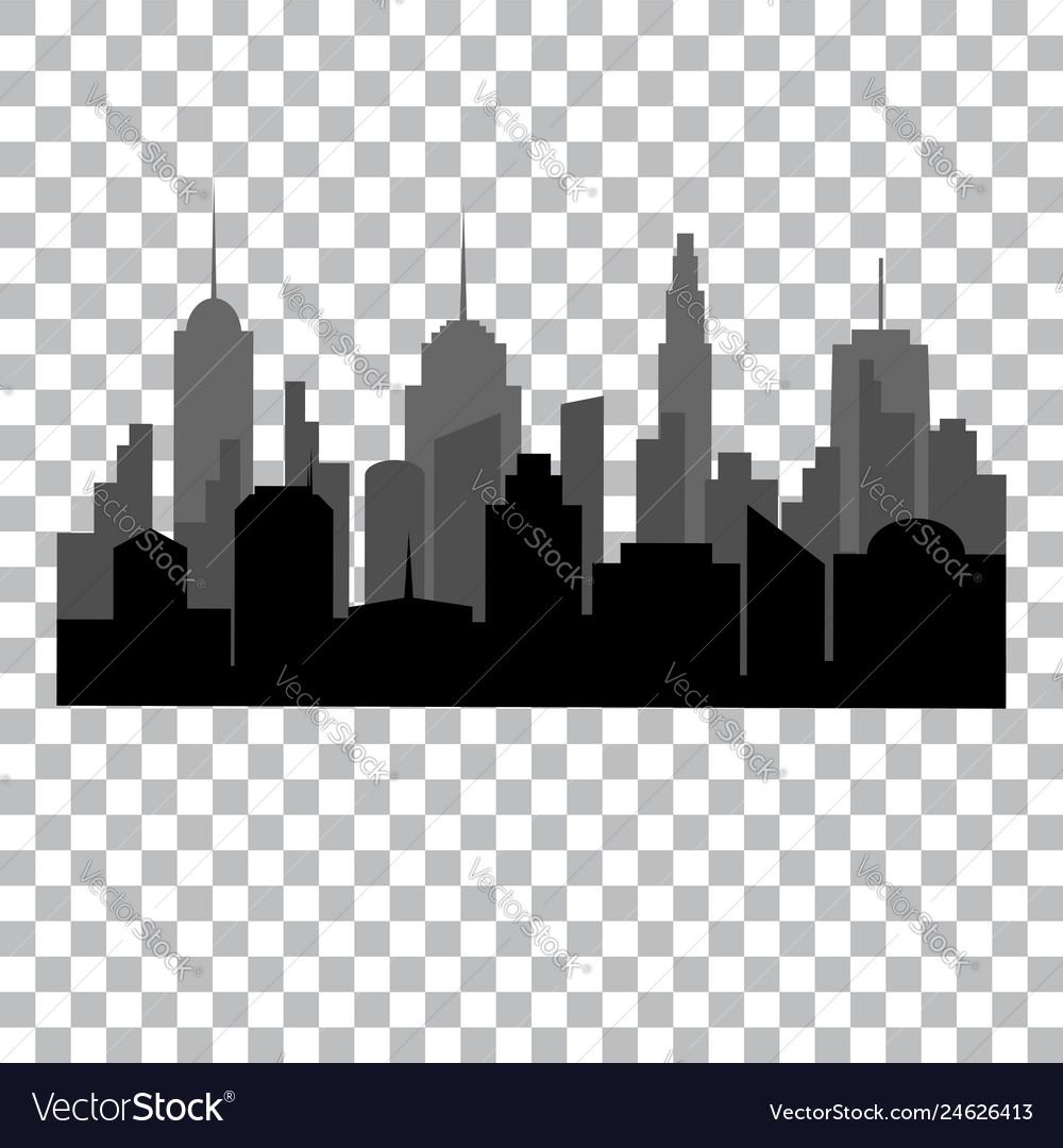 Flat cityscape monochrome design concept