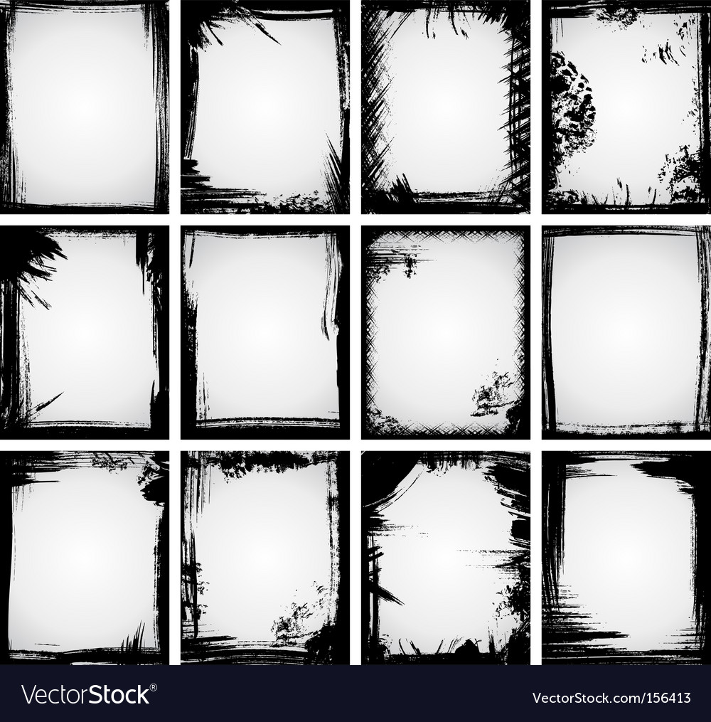Grunge frame collection vector image
