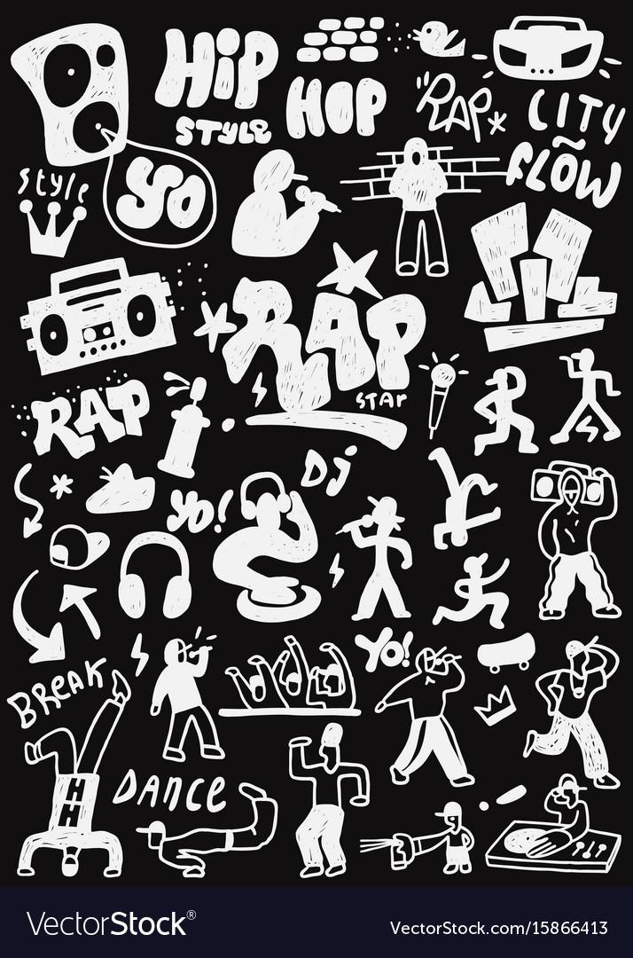 Hip - hop rap doodles