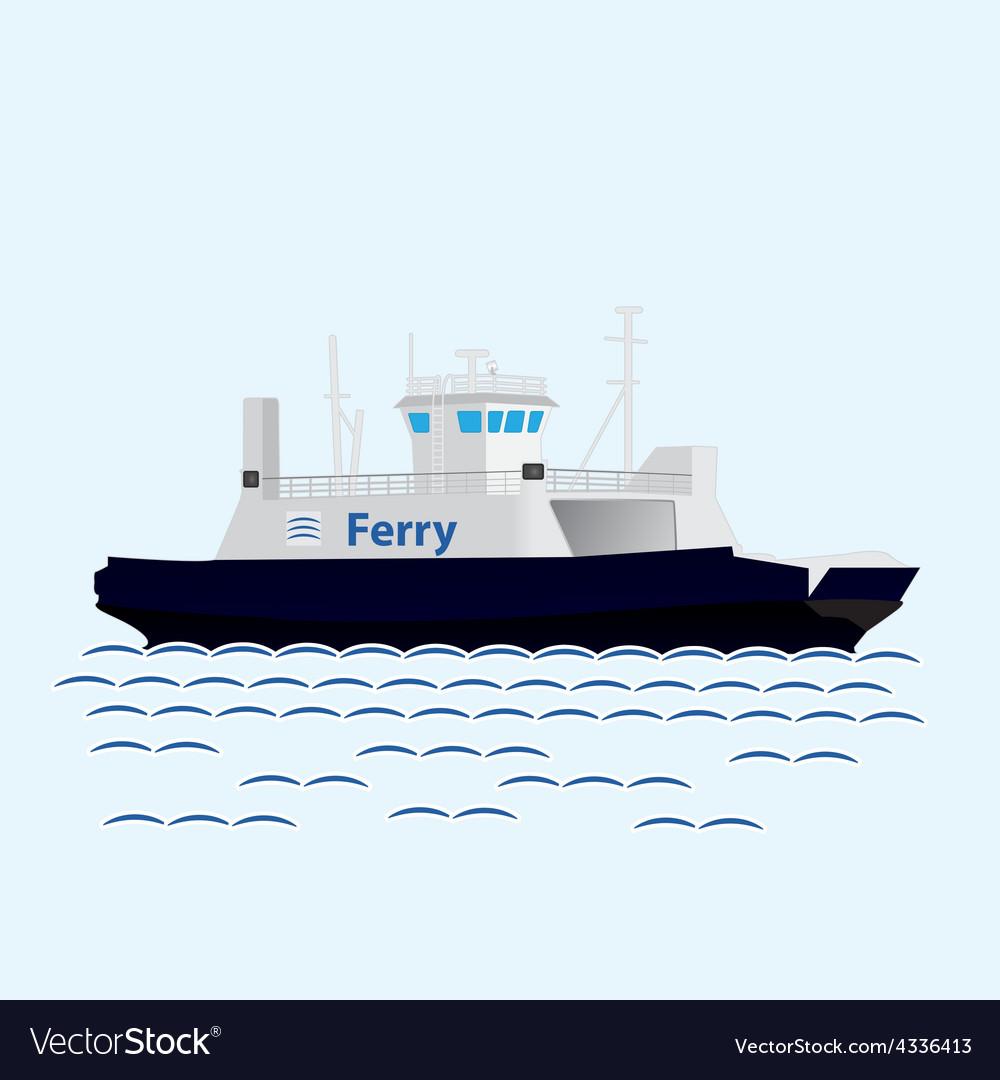 Sea train ferry boat Big ship