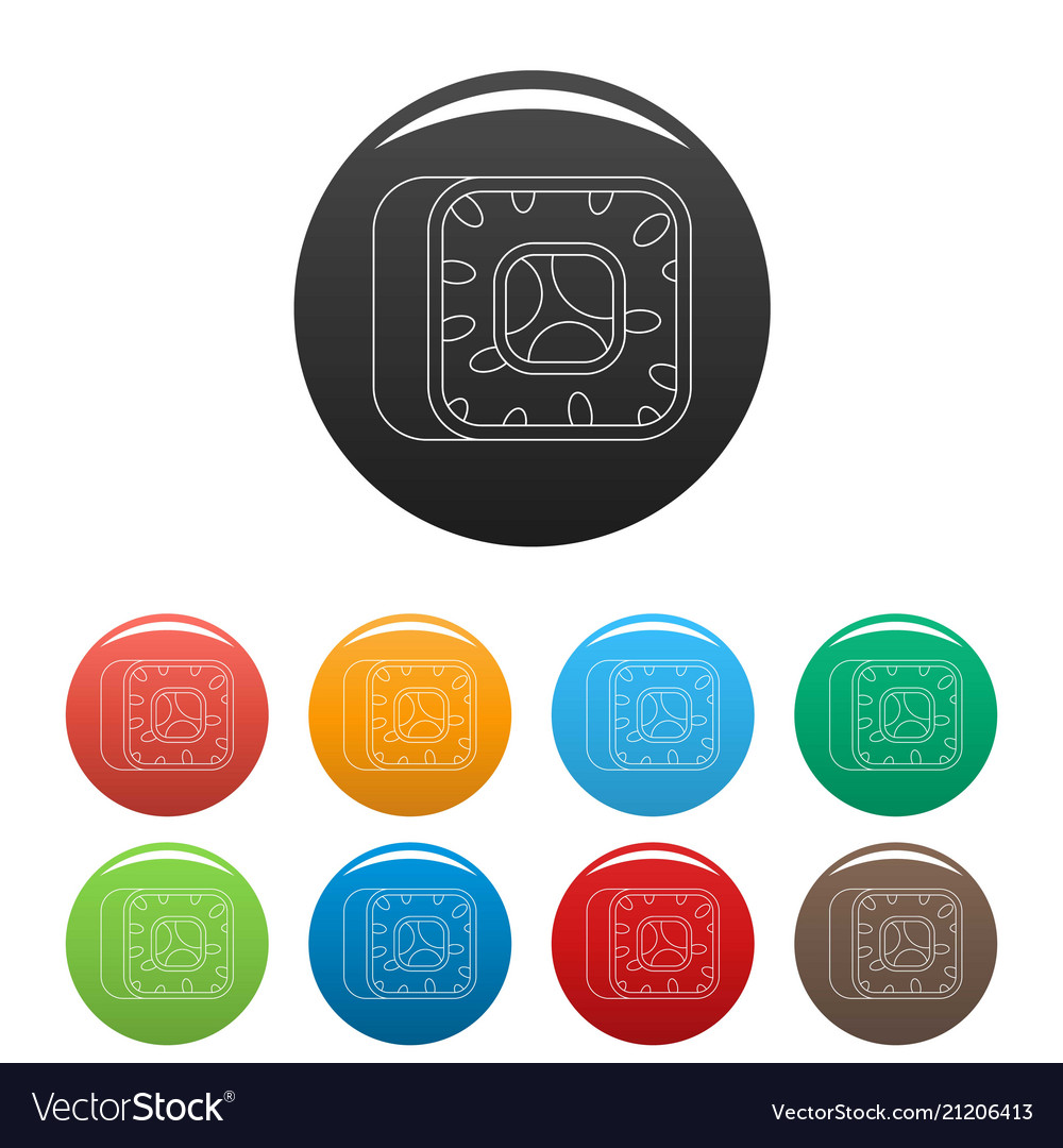 Sushi icons set color vector image