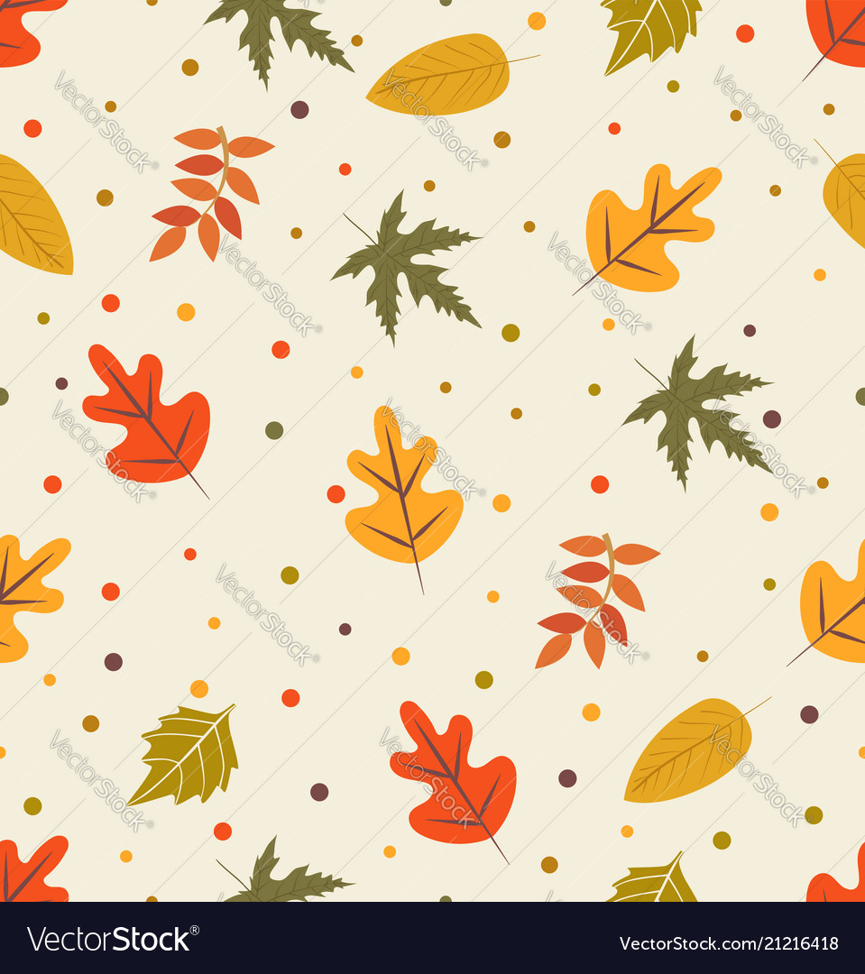 Autumn with leaf pattern
