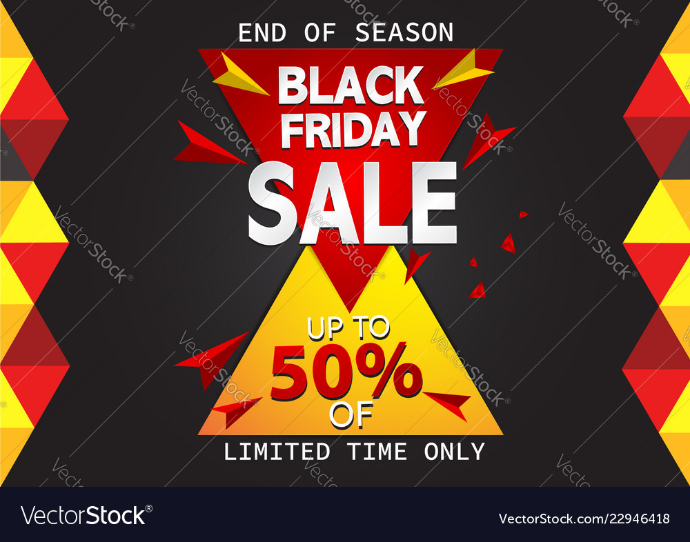 Black friday sale banner abstract background