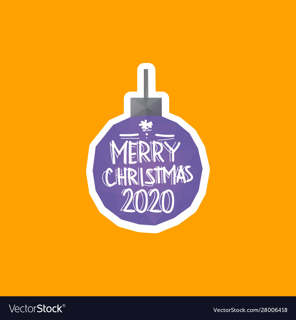 Christmas ball 2020 triangle shape backgrounds
