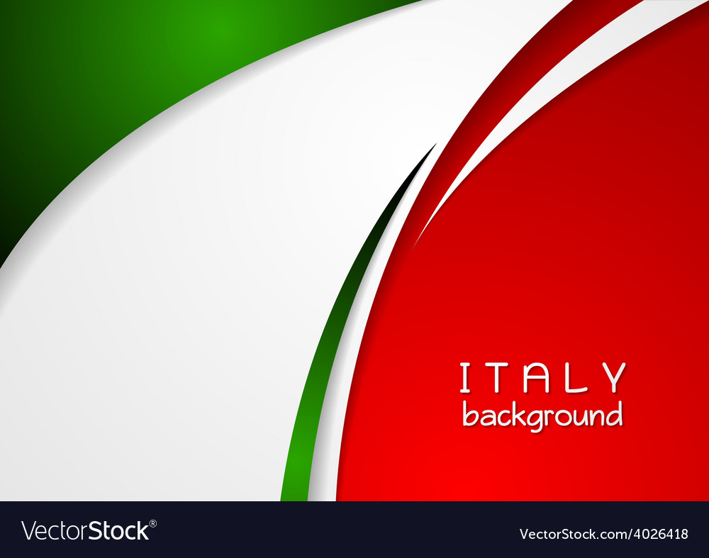 Corporate wavy abstract background Italian colors