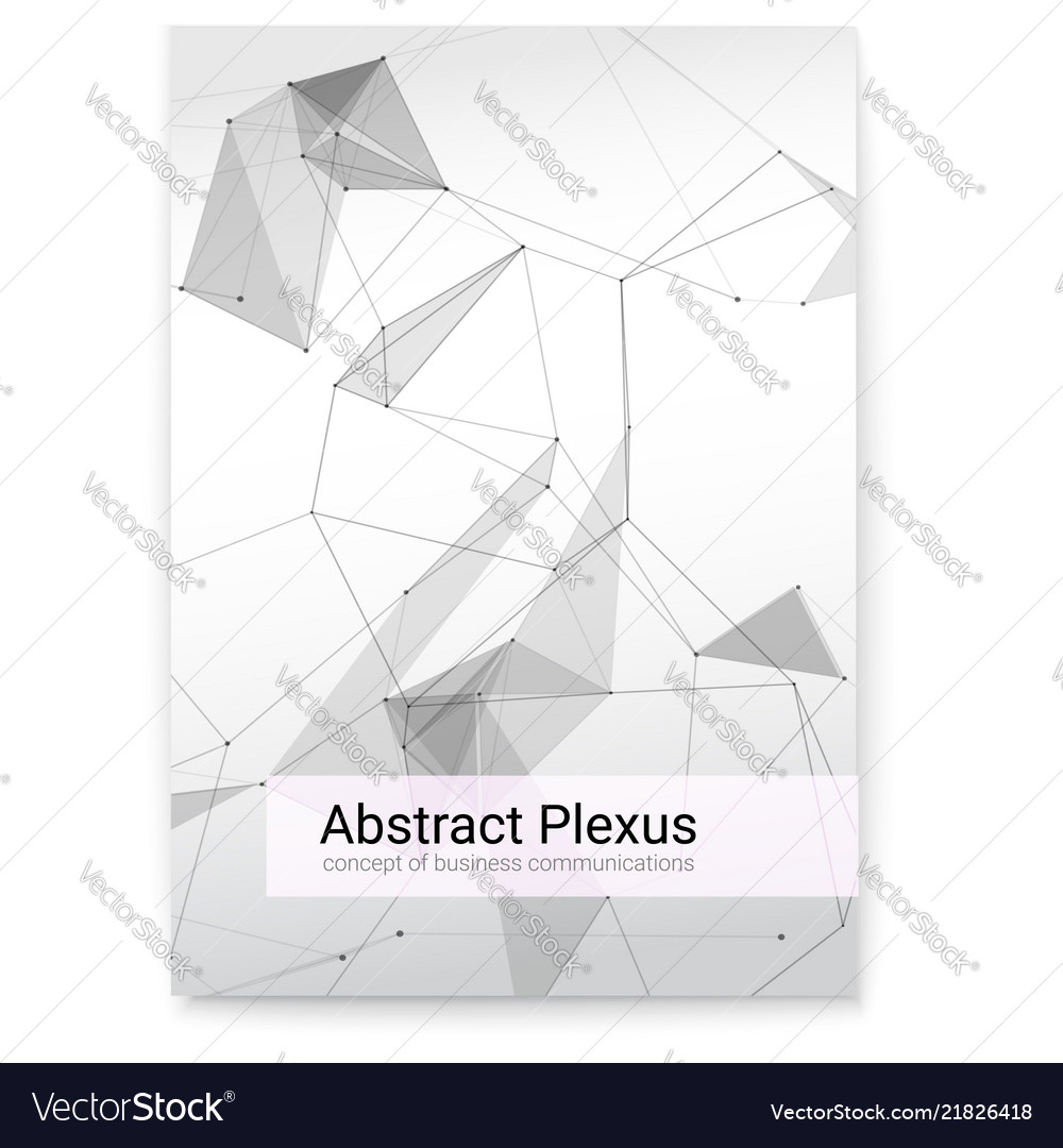 Futuristic plexus shapes cover with abstract 3d