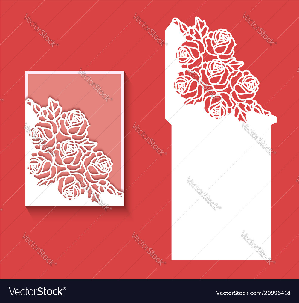 Laser cut envelope template for invitation wedding laser cut envelope template for invitation wedding vector image stopboris Gallery