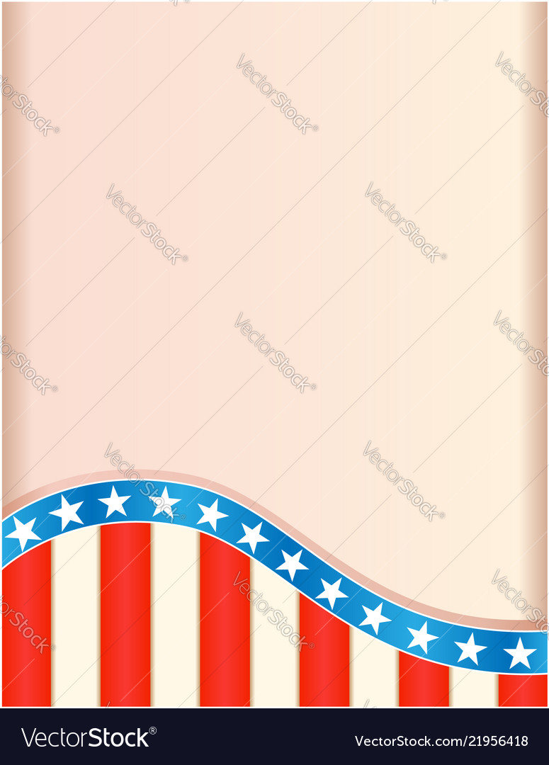 Retro frame with american flag wave pattern