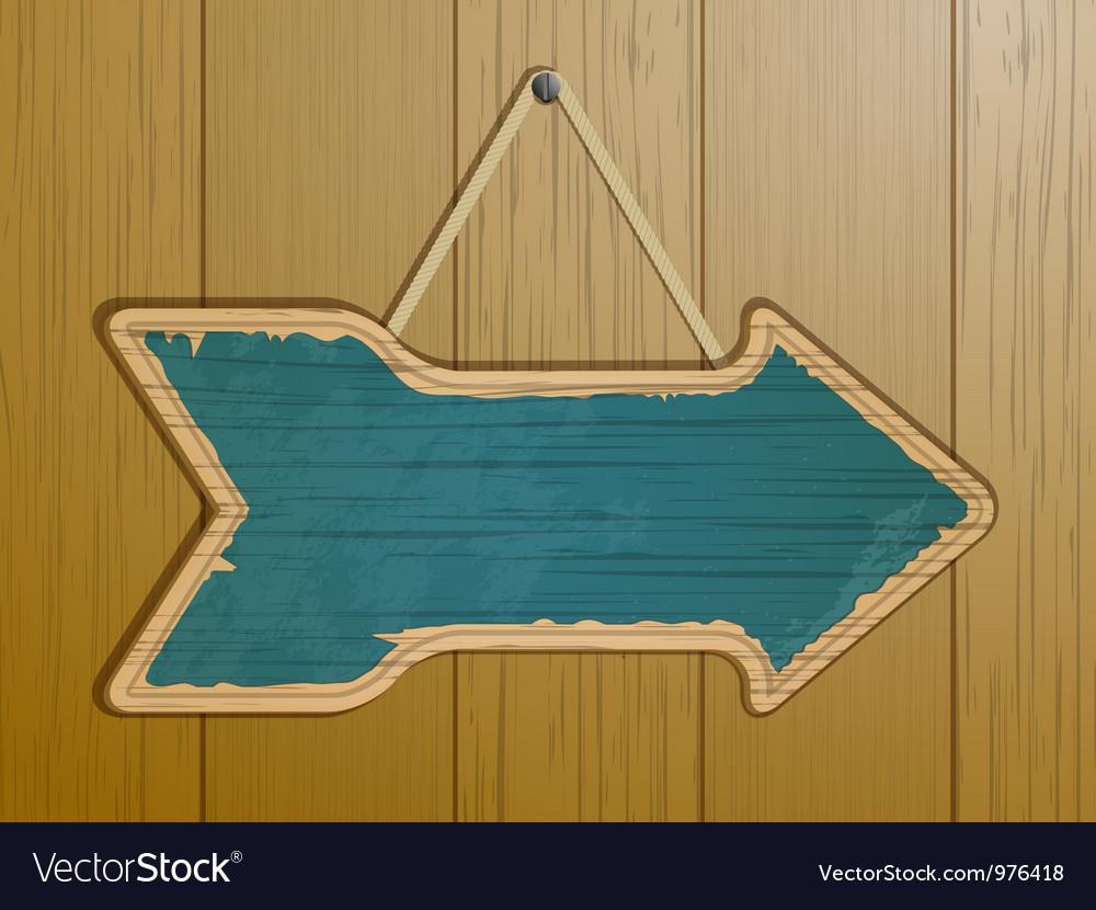 Vintage arrow sign vector image