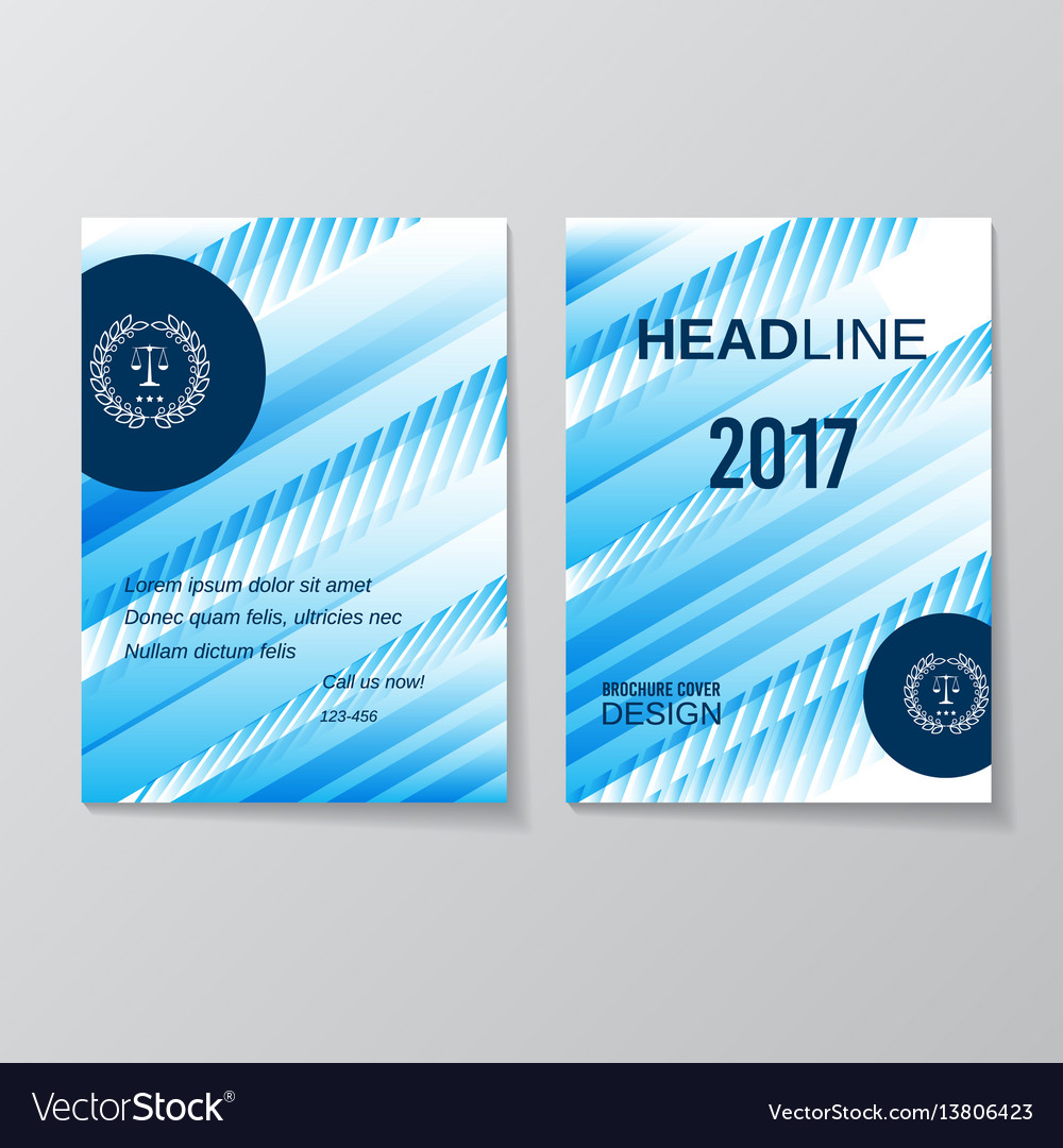 Abstract blue brochure design template