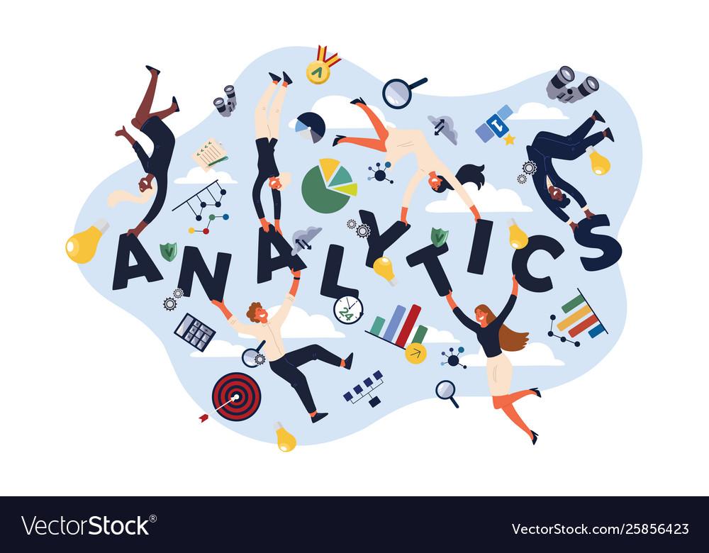 Analytics experts economists analysts making kpi