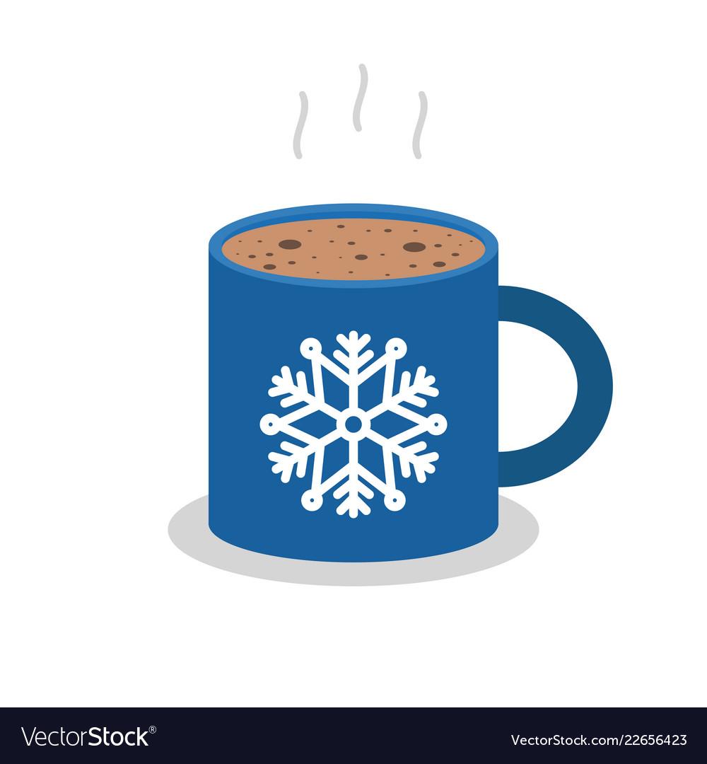 Christmas drink hot coffee hot chocolate flat
