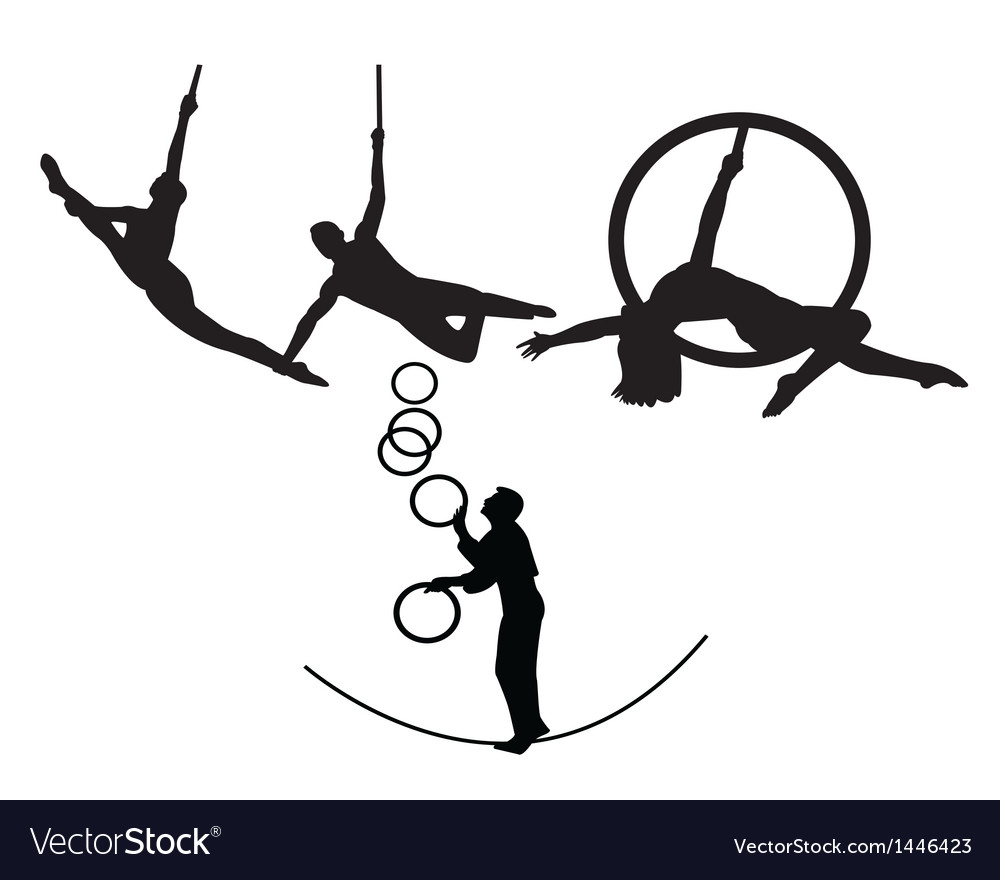 circus trapeze artists royalty free vector image