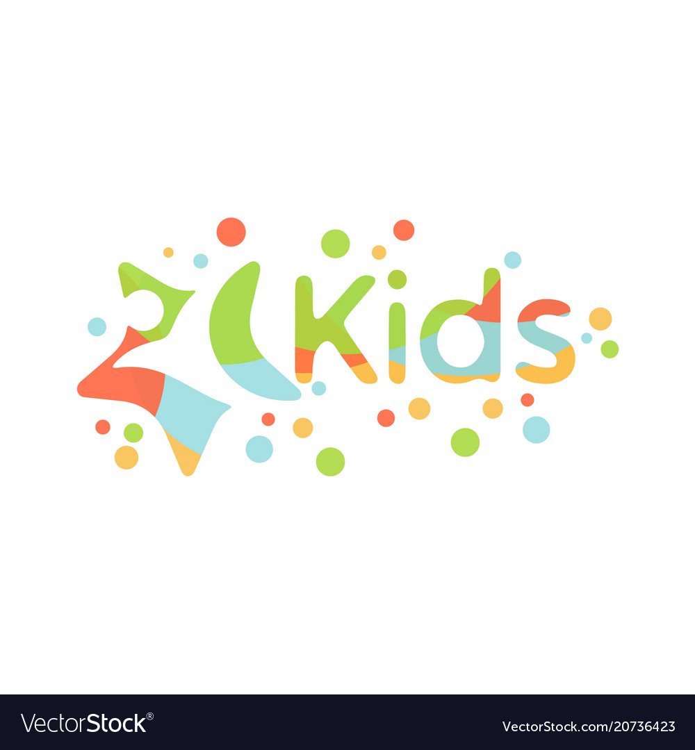 Colorful abstract kids design