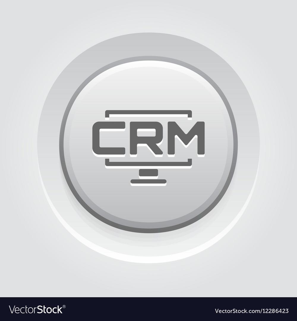 Desktop CRM System Icon Grey Button Design