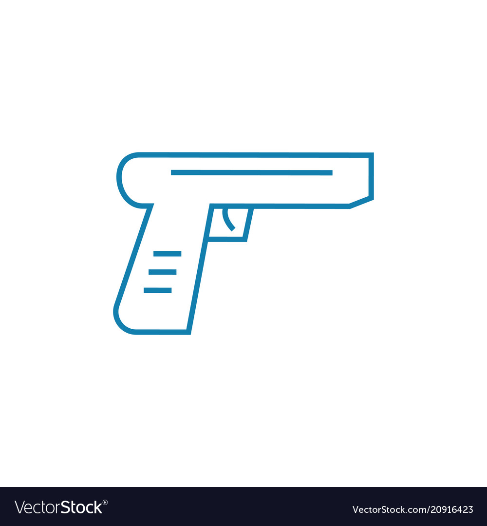Firearms linear icon concept firearms line