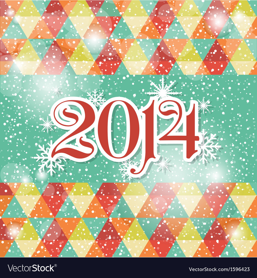 Happy new year 2014 celebration greeting card vector image m4hsunfo