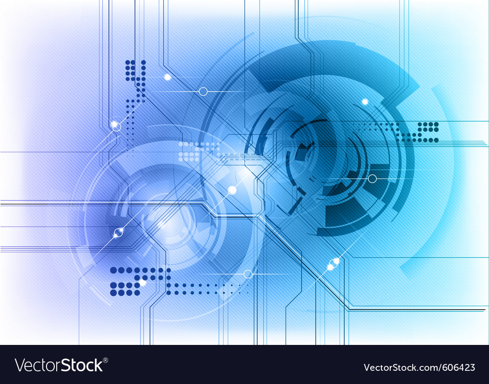 Nice High Tech Background Vector Image