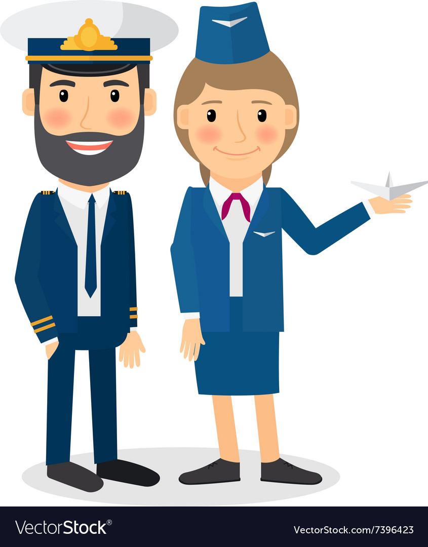 Pilot and stewardess characters