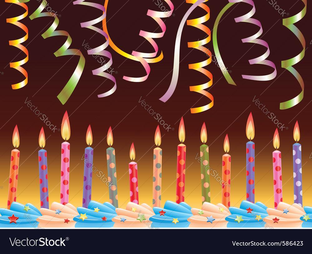 Row birthday candles