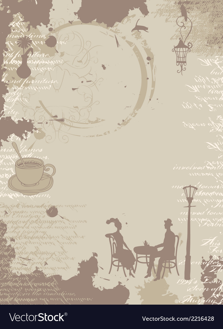 Background with menu